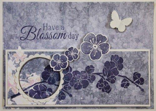 Marjoleine's blog: Kaarten met gestempelde bloemen