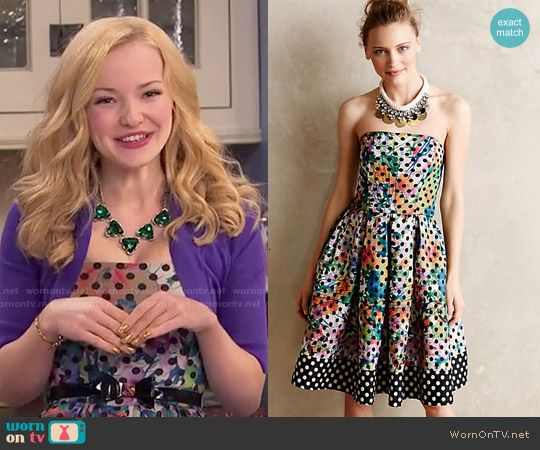 Liv's polka dot dress on Liv and Maddie.  Outfit Details: http://wornontv.net/49789/ #LivandMaddie