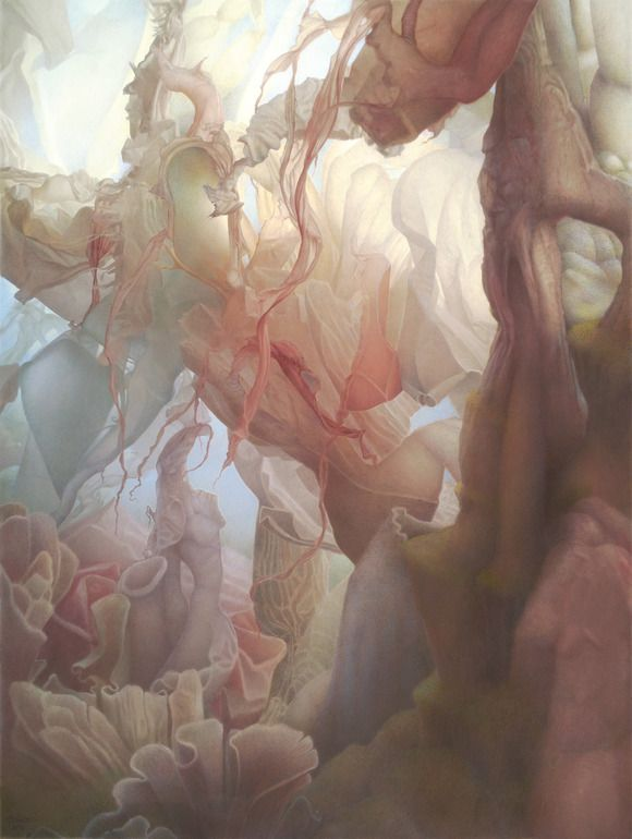 """Saatchi Online Artist: Art Venti; Colored Pencils, 2012, Drawing """"The Underside of Up """""""