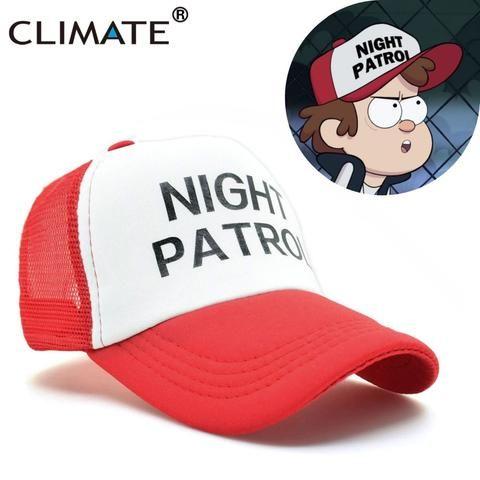 d6753533 CLIMATE Gravity Falls Dipper Caps Night Patrol Family Cosplay Cool Red Mesh  Cas Summer Cool Baseball Mesh Net Trucker Caps Hat
