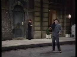 1976 Christmas show - This recreation featured Ernie exactly copying Gene Kelly's dance routine, on a set which exactly copied the set used in the movie, whilst Eric performed the role of the policeman...