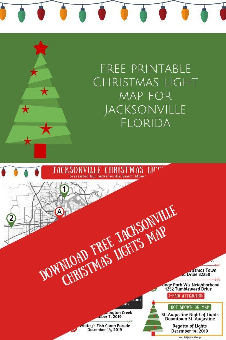 Printable Jacksonville Christmas Light Map Jacksonville Beach Moms Beach Mom Jacksonville Beach Louisiana Vacation