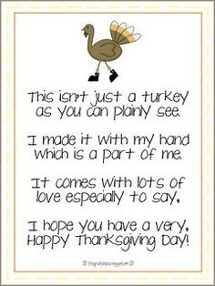 toddler thanksgiving poem - Google Search