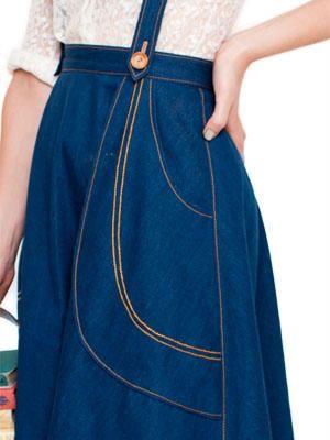 Madeleine skirt Victory Patterns pocket detail