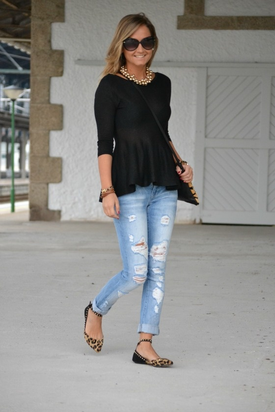 I  the flats with the studded ankle straps!