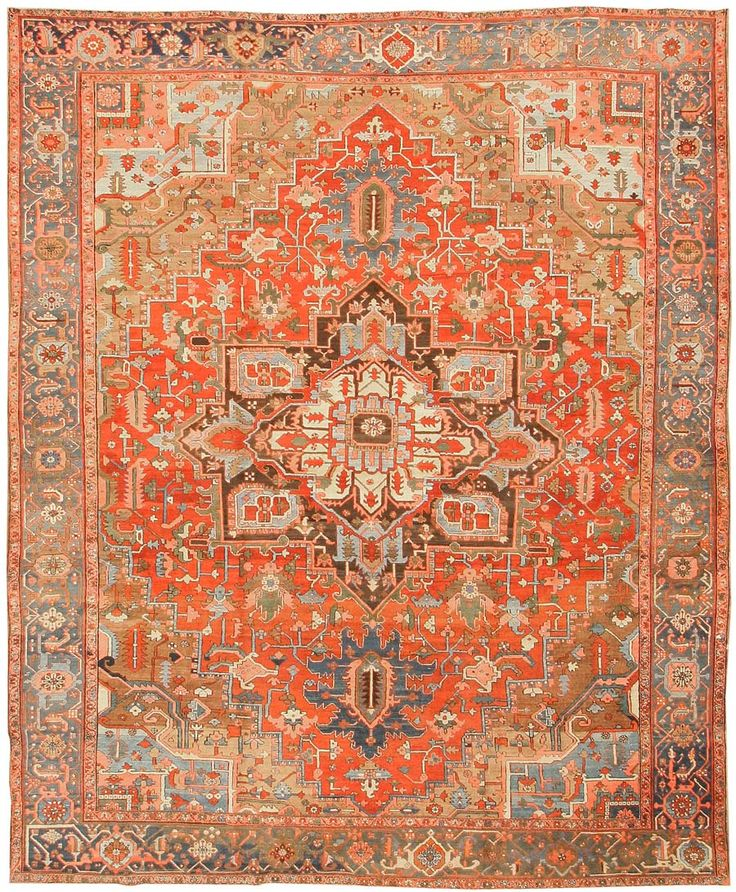 Antique Heriz Persian Rugs #43346  http://nazmiyalantiquerugs.com/antique-rugs/heriz-rugs/