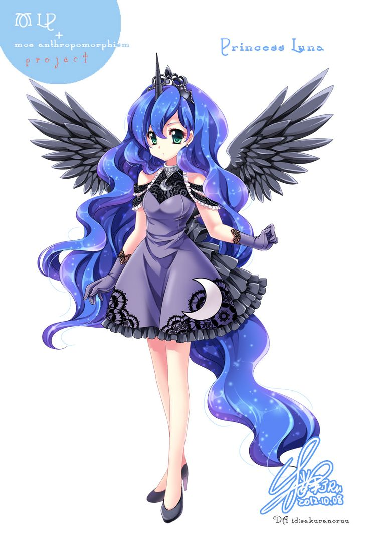 [MLP]LUNA of moe anthropomorphism by SakuranoRuu.deviantart.com on @deviantART