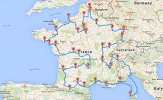 On a mis au point le road trip optimal pour visiter la France