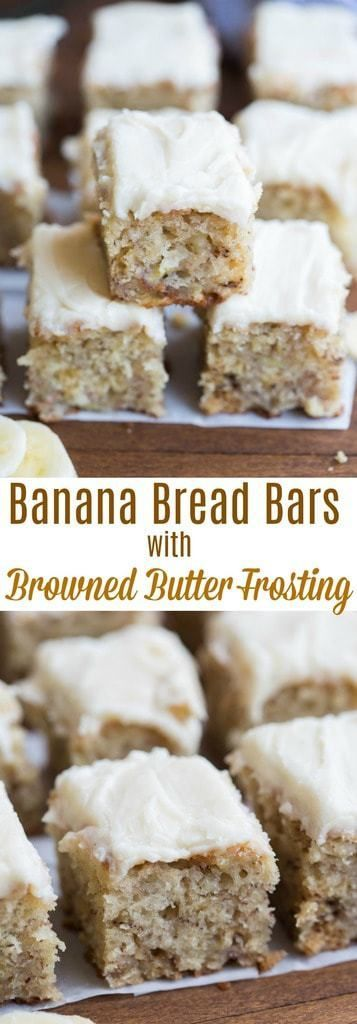 These delicious, soft, moist banana bread bars may be my favorite way to use ripe bananas! | tastesbetterfromscratch.com (Banana Dessert Recipes)