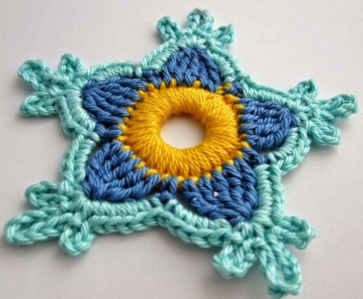Flor holandesa tejida al crochet con paso a paso en fotos | Crochet y Dos agujas - Patrones de tejido