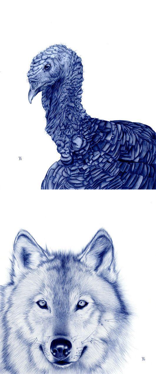 35 best artist sarah esteje images on pinterest for Cool pen drawings
