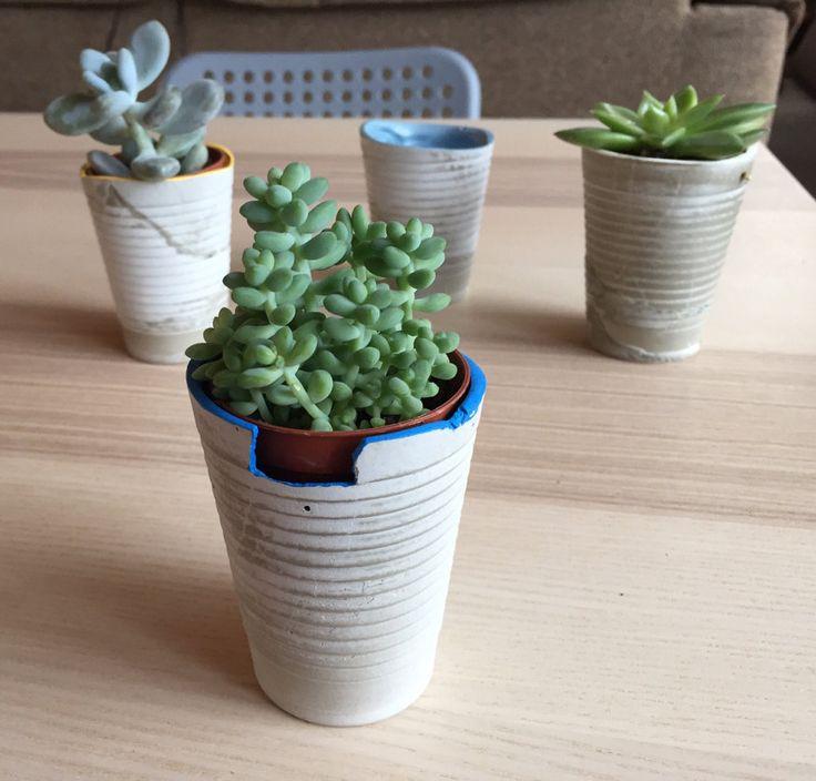 M s de 1000 ideas sobre maceteros de cemento en pinterest - Maceteros de plastico ...