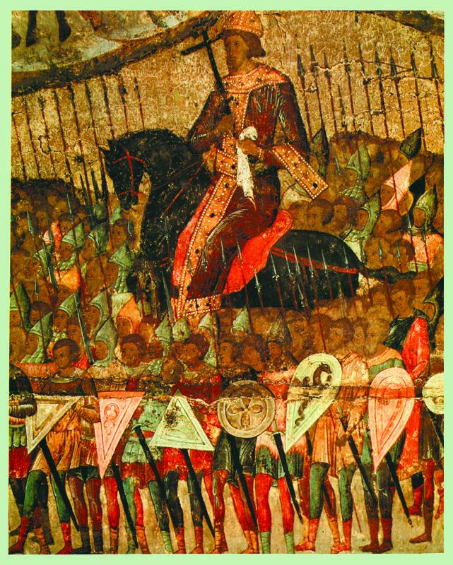 Фрагмент 1550-е гг.  Церковь воинствующая