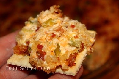 Charleston Cheese Dip - Cream cheese, Cheddar cheese, Swiss cheese, green onion, jalapeno, topped with panko & garnished with bacon!