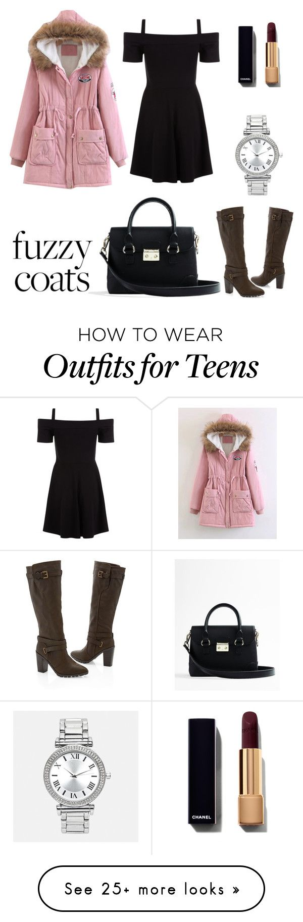 """fuzzy fall"" by conniefrannie on Polyvore featuring Express, Venus and Avenue"