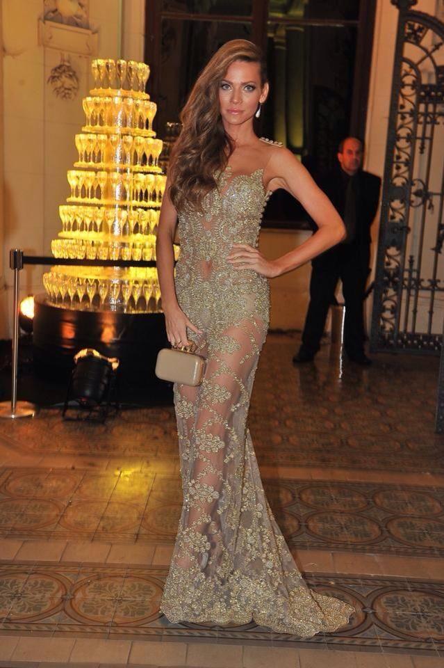 Dress: Jana Pistejova  Slovak model Andrea Veresova  #dress #lace