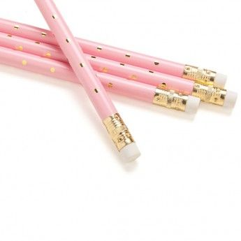 Gold Polka Dot Pencils (set of 8)