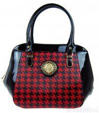 Luxusní kabelka 2C3126 červeno-černá Tom&Eva