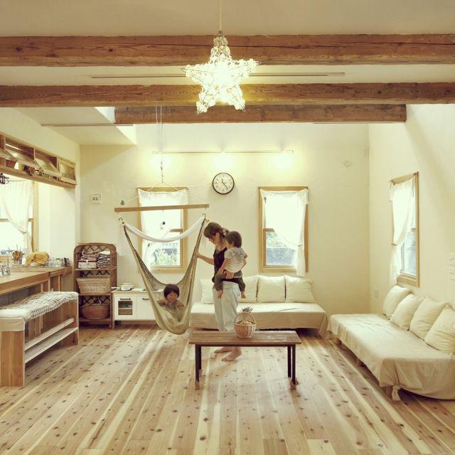 その他で、、家族住まいの漆喰/オープン収納/エフリッジホーム/ナチュラル/DIY/梁…などについてのインテリア実例を紹介。(この写真は 2015-08-25 00:52:51 に共有されました)