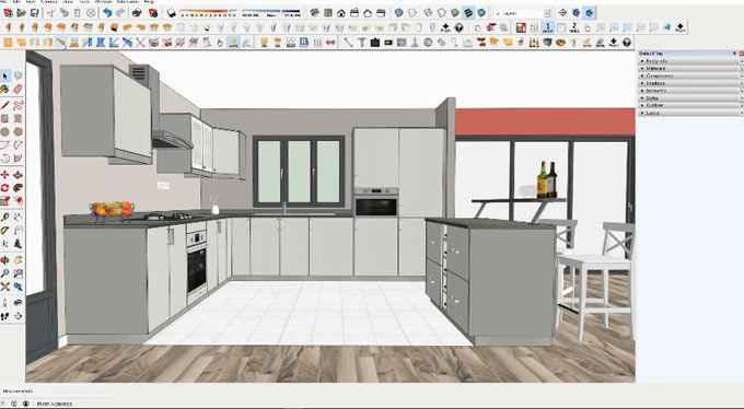 Click Kitchen 2 And Click Change 2 Are Considered As Useful Plugins For Sketchup These Plugin Will Allow You To Draw And Customize You Home Kitchen Home Decor