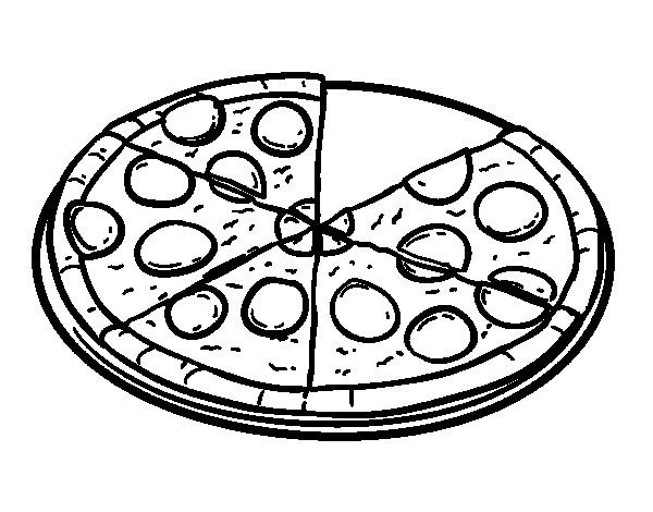 Dibujo Pizza Para Colorear Coloring Pages Pizza Pictures Color