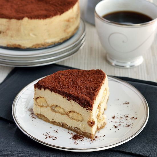 """Paleo Tiramisu Cheesecake with lady finger cookies saturated in espresso cognac rum sauce and layered with the dreamy cashew """"cheesecake."""""""