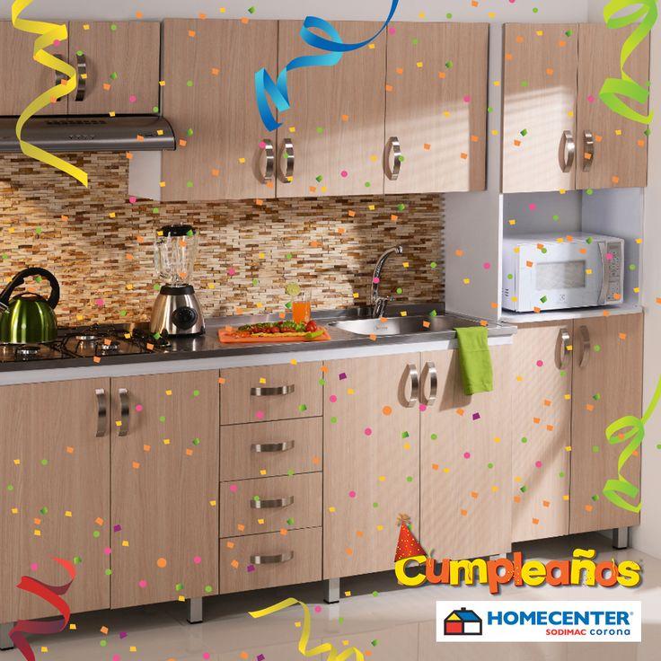 Renueva tu cocina con lo último en muebles, consigue todo en #CumpleañosHomecenter.