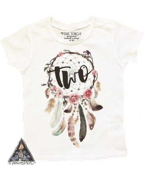 6b521895 DREAMCATCHER SECOND BIRTHDAY » KID'S TEE Girl Birthday, Birthday Shirts, Dream  Catcher Boho