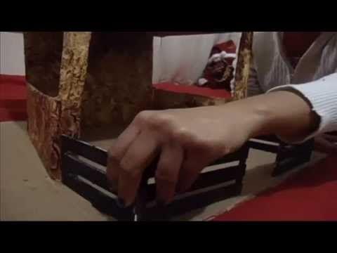 Como hacer nacimiento navideño de carton con iluminacion (1ª parte) - YouTube