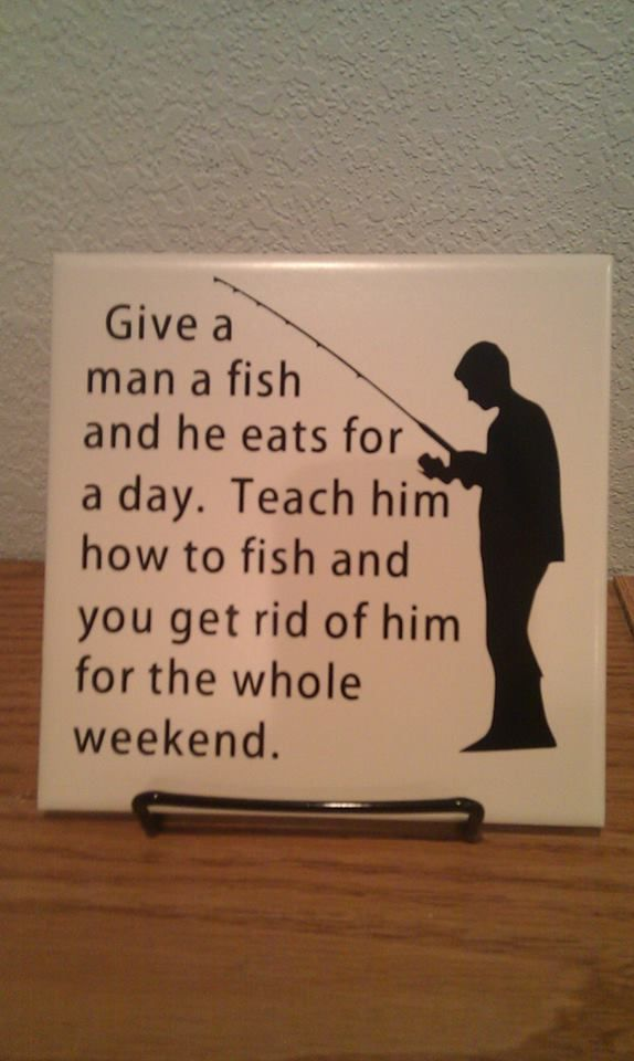 Custom vinyl design give a man a fish quote with a for Give a man a fish bible verse