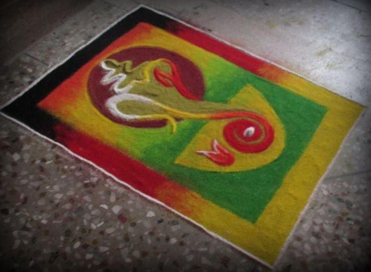 Lord Ganesh Rangoli Designs for Diwali