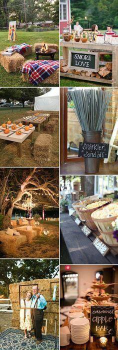 fun and interactive intimate fall wedding ideas #countrywedding