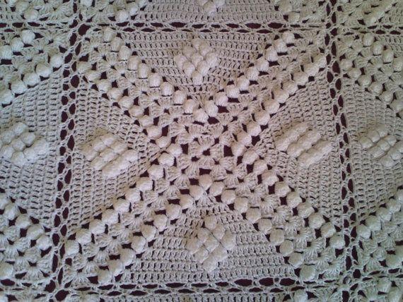 Mano 3D Vintage bianco pesante maglia grande di ArtTreasures4You