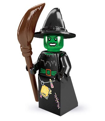 Lego Witch Minifigure | The Witch is a misunderstood person. She just wants to be good, but with all the magic power she has, there are times when she just can't help being a little bit bad.