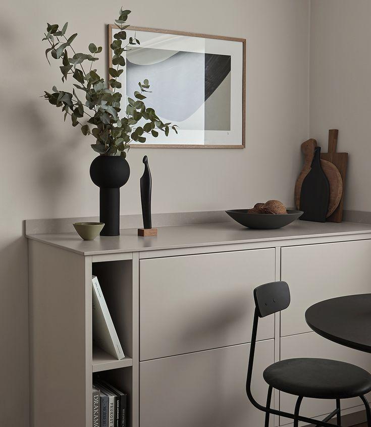 Minimalistic * kitchen counter decor. | via: Nordi…