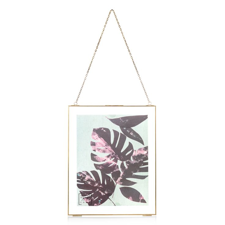 """Buy the Gold & Glass Hanging Wall Frame 11 x 14"""" at Oliver Bonas. Enjoy free UK standard delivery for orders over £50."""