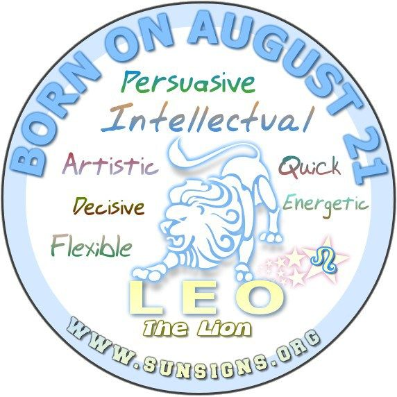 August 21 Birthday Horoscope Personality » Sun Signs