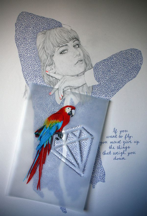 If you want to fly, you must give up the things that weigh you down: Weigh, Drawings, Nikipilkington Drawing, Niki Pilkington, Fly, Art, Truths, Things, Fashion Illustrations