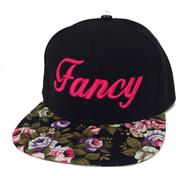 FANCY 3D Flat Bill Snapback Hat Hip Hip Im so Fancy Cap Floral Bill found on Polyvore