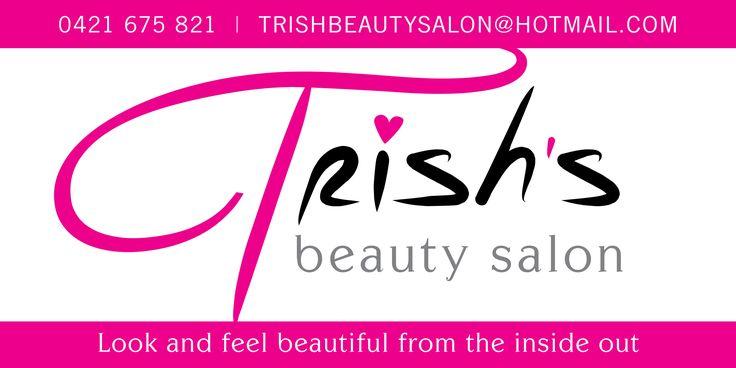 Trishs Beauty Salon Outside Corflute Sign