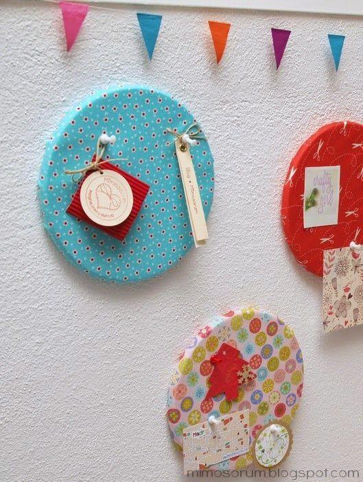 MIMOSORUM : Tablón de Anuncios con Salvamanteles de Ikea - Diy: Fabric Covered Cork Boards