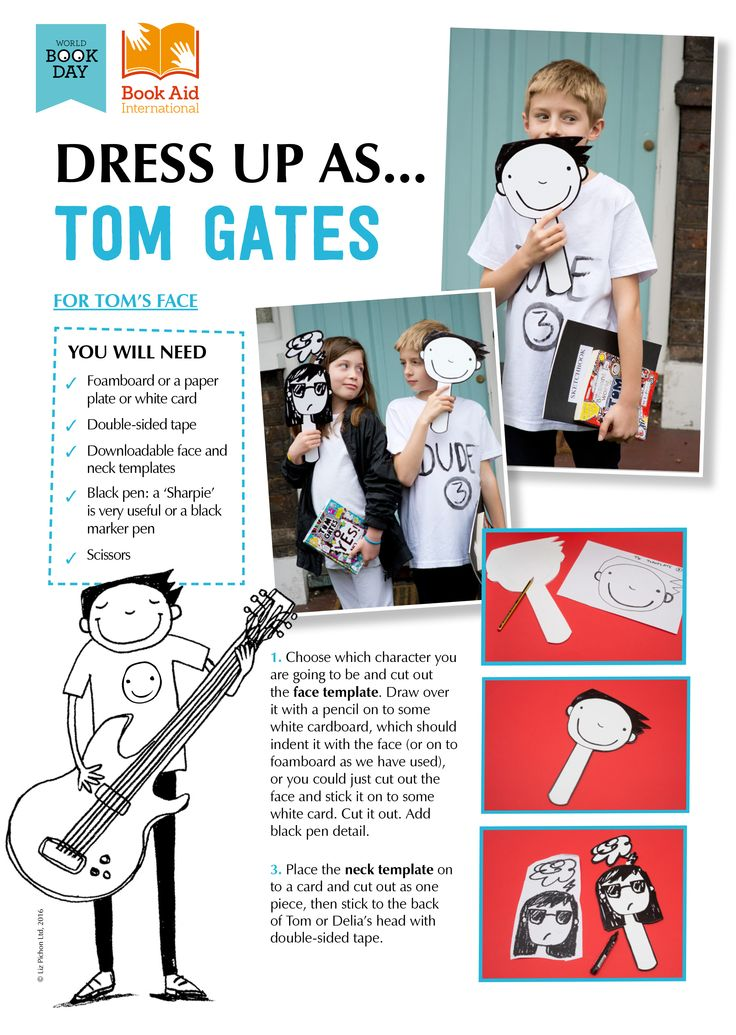 "Dress Up as ""Tom Gates"" - World Book Day DIY costume idea!"