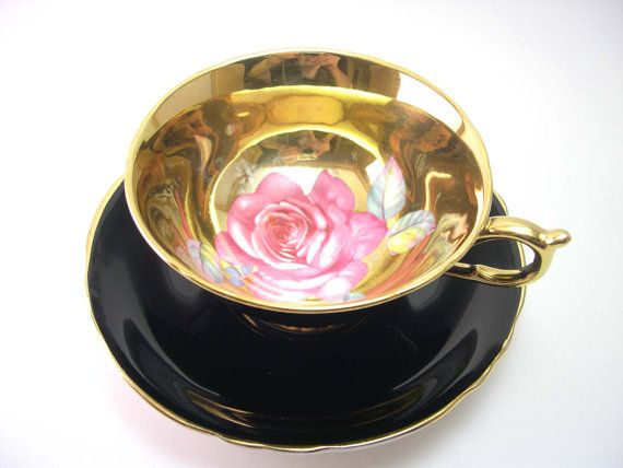 Hey, I found this really awesome Etsy listing at https://www.etsy.com/listing/185900863/antique-black-paragon-tea-cup-and-saucer