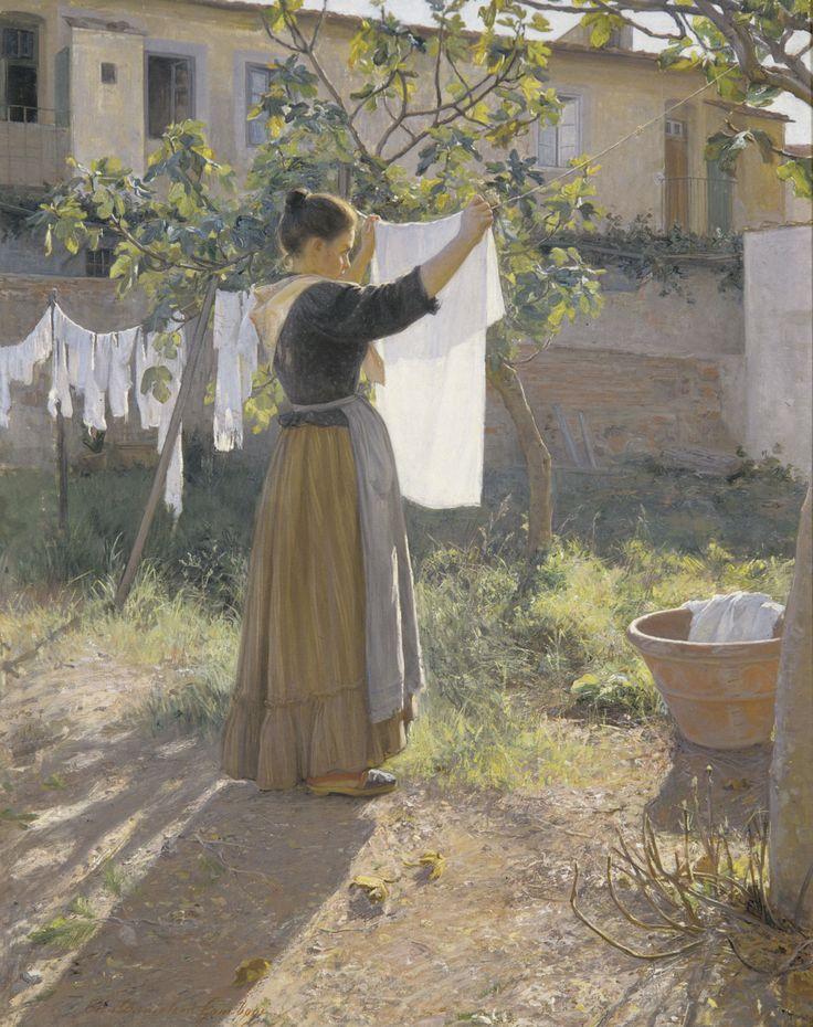 Elin Danielson-Gambogi: A Sunny Day, 1900. Finland
