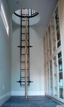 Fireman's Pole in residential house.