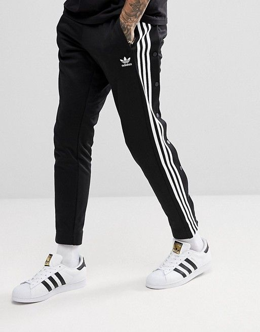 43886f36 adidas Originals adicolor Popper Sweatpants In Black CW1283 in 2019 ...