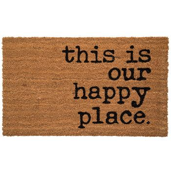 This Is Our Happy Place Doormat Front Door Mats Apartment Door