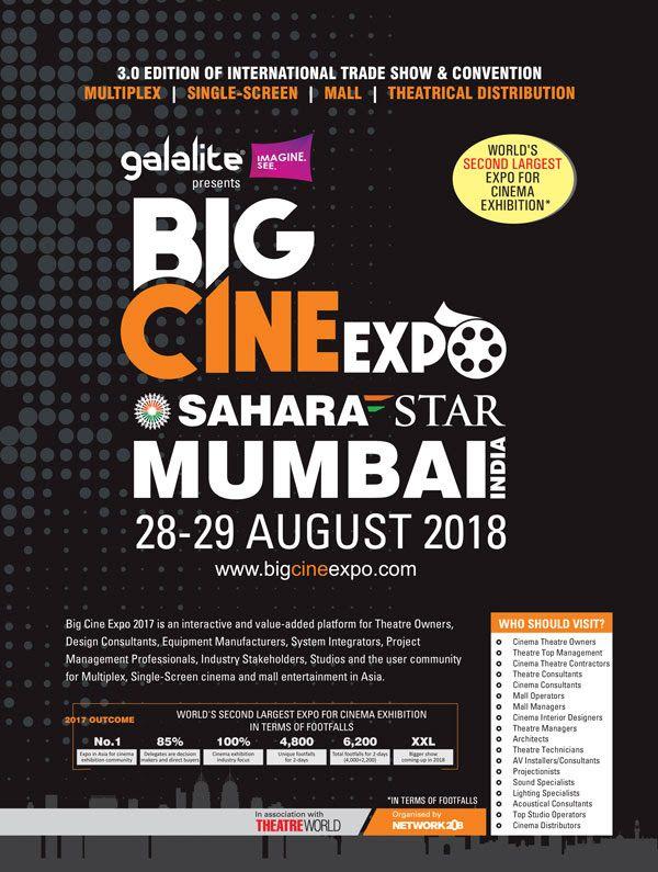 Galalite Screens – Title Sponsor for Big Cine Expo 2018