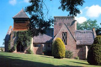 Brockhampton -All Saints' Church designed by William Lethaby, gorgeous embroideries inside