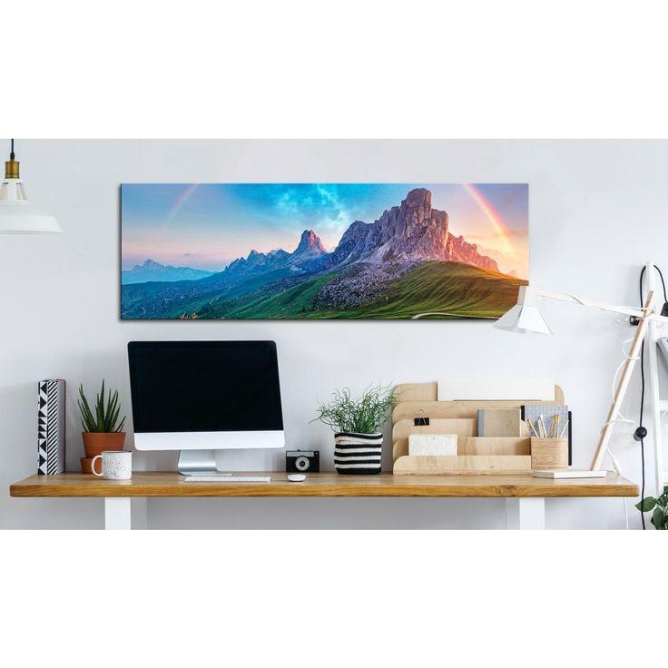 Les Alpes pittoresques seront une décoration pour l'intérieur aux couleurs claires #tableaux #paysage #Alpes #montagnes #artgeist